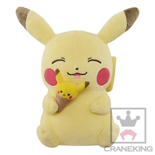 Pokemon 10'' Pikachu Eating Pikachu Ice Cream Banpresto Prize Plush