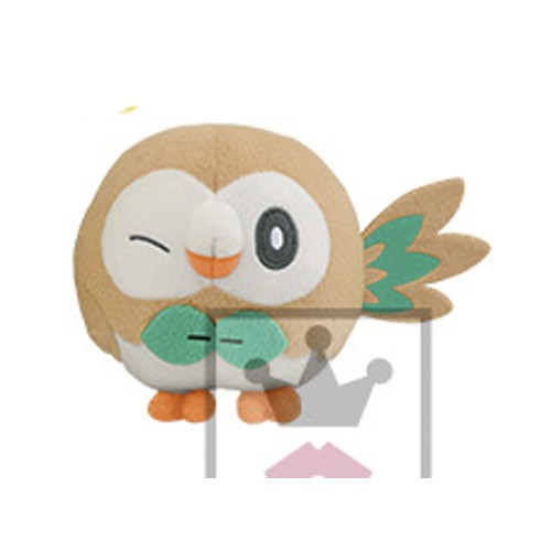 Pokemon 5'' Rowlet Leaf Series Starter Banpresto Prize Plush