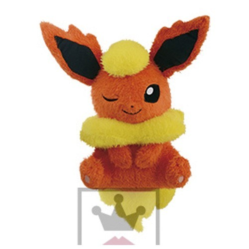 Pokemon 12'' Flareon Kutsurogi Time Banpresto Prize Plush