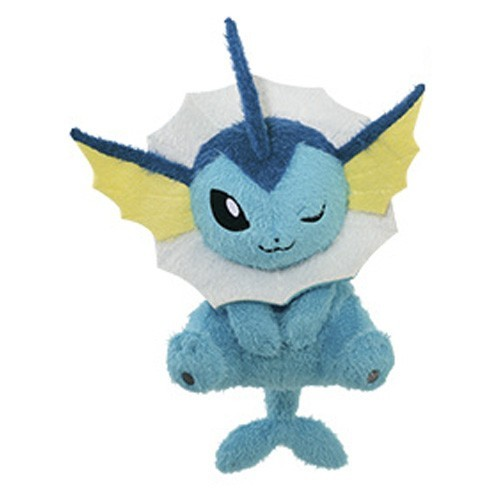 Pokemon 12'' Vaporeon Kutsurogi Time Banpresto Prize Plush