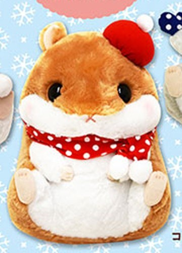 Korohamu Koron 14'' Brown and White Hamster Winter Ver. Amuse Prize Plush