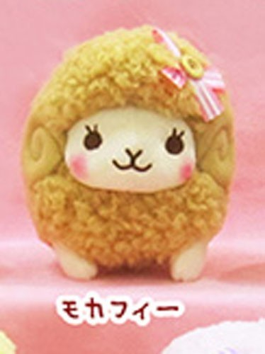 Fuwamoko Natural Wooly 8'' Tan Fluffy Sheep Amuse Prize Plush