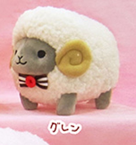 Fuwamoko Natural Wooly 8'' Black and White Fluffy Sheep Amuse Prize Plush