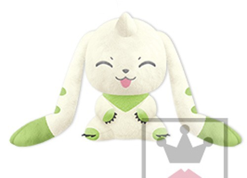 Digimon 10'' Sitting Smiling I love Terriermon Banpresto Prize Plush