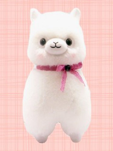 Alpacasso 14'' White Lace Ribbon Large Amuse Plush