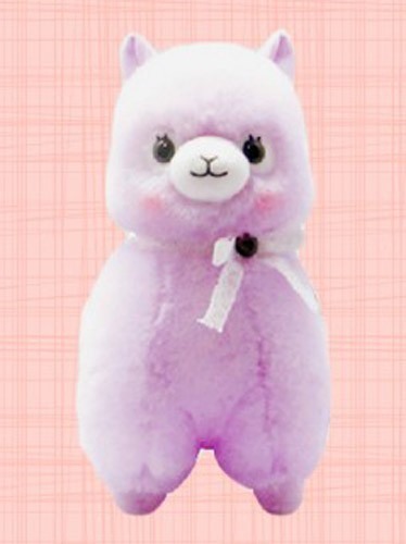Alpacasso 14'' Purple Lace Ribbon Large Amuse Plush