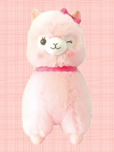 Alpacasso 14'' Pink Lace Ribbon Large Amuse Plush