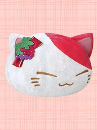 Nemuneko 12'' Red Wine Red and White Prize Plush