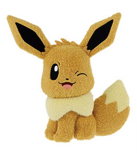 Pokemon 10'' Eevee Winking Banpresto Prize Plush