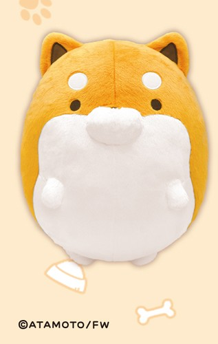 Tarushiba 14'' Orange and White Mochi Shiba Inu Dog Plush