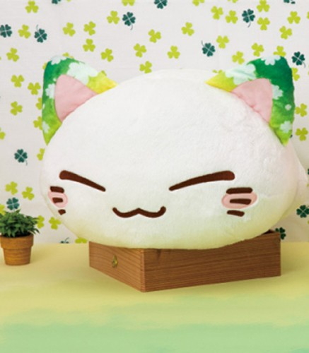 Nemuneko 12'' Green Clover Ears Sleeping Cat Plush