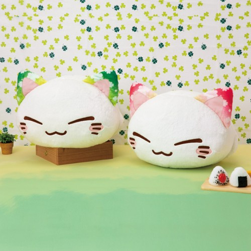 Nemuneko 12'' Pink Sakura Ears Sleeping Cat Plush