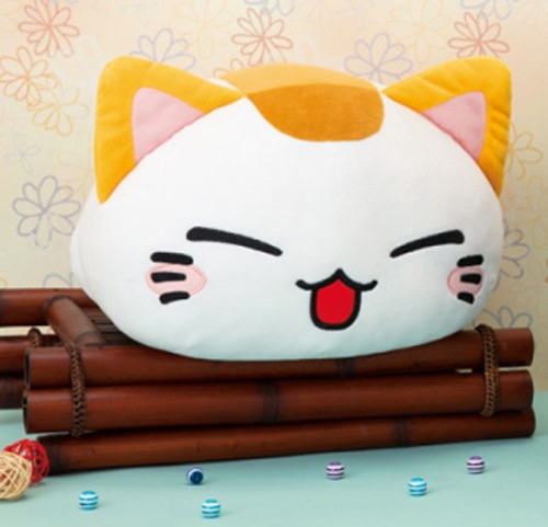 Nemuneko 12'' Smiling Calico Sleeping Cat Plush
