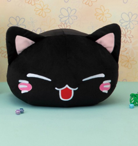 Nemuneko 12'' Smiling Black Sleeping Cat Plush