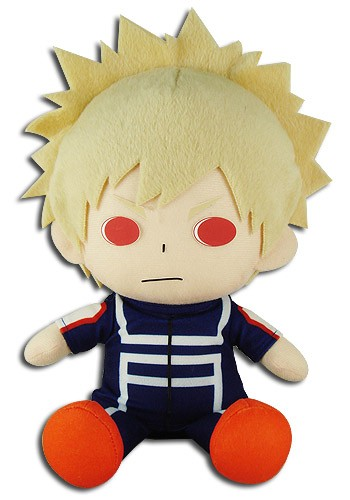 My Hero Academia 8'' Bakugo Katsuki Training Outfit Sitting Plush Doll