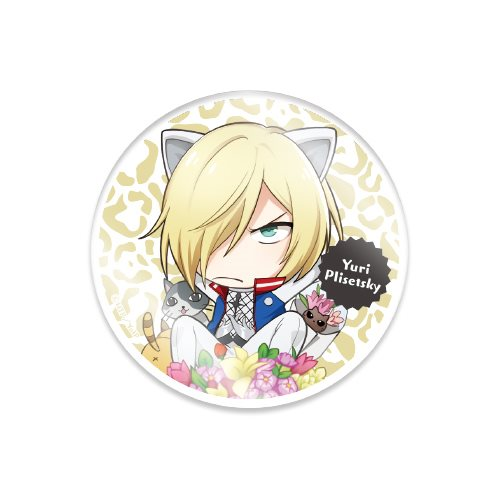 Yuri on Ice Yuri Plisetsky Cat Ears 4'' Clear Brooch