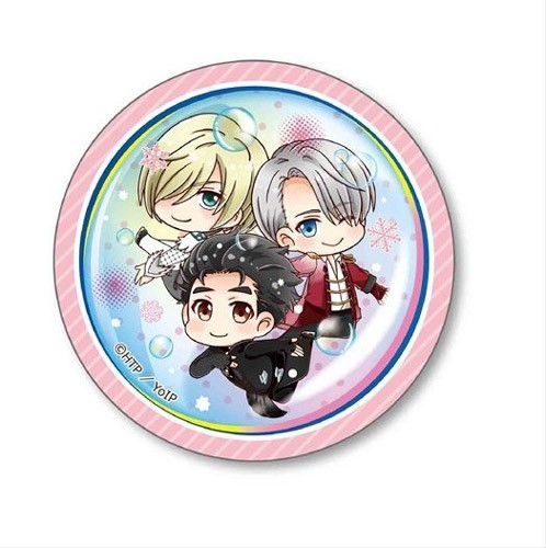 Yuri on Ice Group Under Water 3'' Metal Button