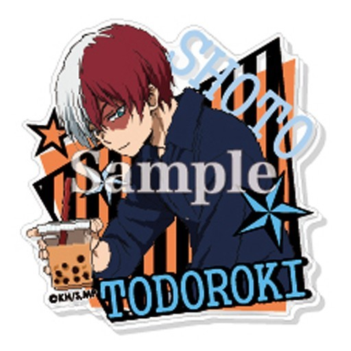 My Hero Academia Todoroki Shoto w/ Bubble Tea Acrylic Badge Pin