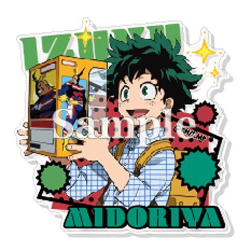 My Hero Academia Midoriya Izuku w/ Figure Acrylic Badge Pin