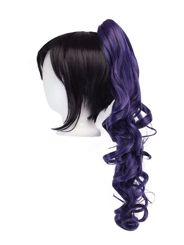 Loose Curly Clip - Eggplant Purple