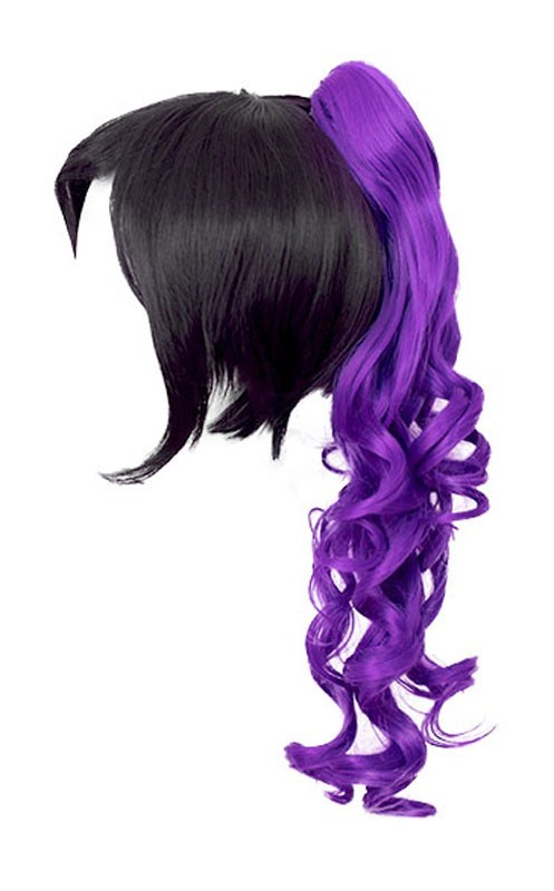 Loose Curly Clip - Indigo Purple