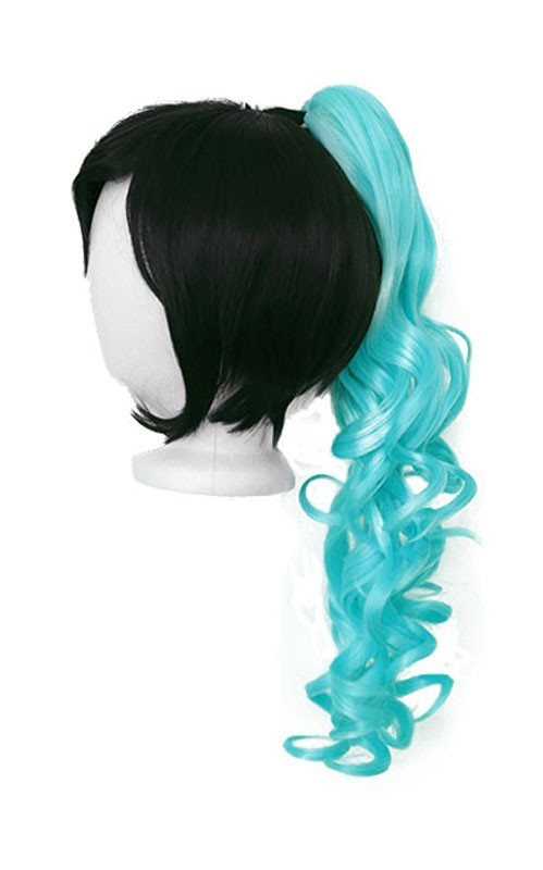 Loose Curly Clip - Aqua Green