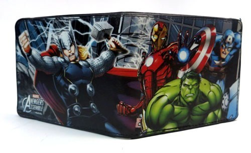 Avengers Marvel Group Black Bifold Buckle Down Wallet