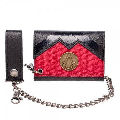 Assassin's Creed Logo Red and Black Chain Wallet