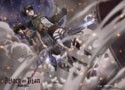 Attack on Titan Eren and Levi Wall Scroll Poster (U.S. Customers Only)
