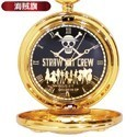 One Piece Film Gold Pocket Watch Black Face