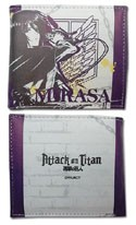 Attack on Titan Mikasa White and Purple Bifold Wallet