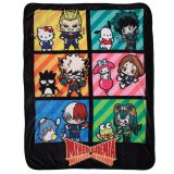 My Hero Academia X Sanrio Fleece Throw Blanket