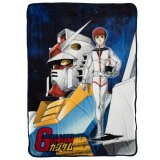 Gundam Mobile Suit Fleece Throw Blanket