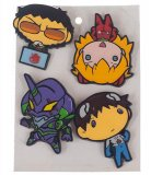 Neon Genesis Evangelion Bioworld 4 Lapel Pin Set