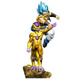 **Shipping Soon**  Dragonball Z Super 3'' SSGSS Gogeta Vs. Golden Frieza Dracap Re Birth Super Power Ver. Megahouse Trading Figure