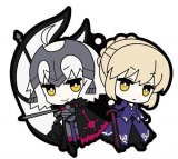 Fate Grand Order Saber Alter and Avenger Jeanne Alter Rubber Mascot Buddycolle Phone Strap