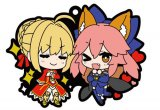 Fate Grand Order Saber Extra and Caster Tamamo no Mae Rubber Mascot Buddycolle Phone Strap