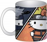 Naruto X Sanrio Group Coffee Mug Cup