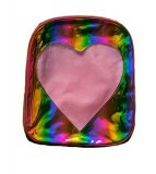 Ita Bag - Holographic Rainbow Heart Window Back Pack