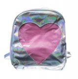 Ita Bag - Holographic Silver Heart Window Back Pack