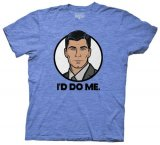 Archer I'd Do Me Men's Blue T-Shirt