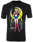 Sailor Moon In Front of the Moon Black Men's T-Shirt