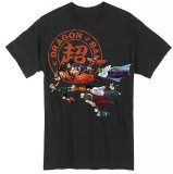 Dragonball Z Super Group Flying Men's Black T-Shirt