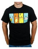 Pokemon Original Starters Black Men's T-Shirt