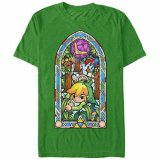 Zelda Stained Glass Link Green T-Shirt