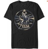 Zelda Triforce and Link Skyward Sword Black T-Shirt