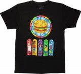 Bob's Burgers Stained Glass Black T-Shirt