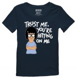 Bob's Burgers Trust Me You're Hitting on Me Navy Blue Adult T-Shirt