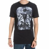 The Nightmare Before Christmas Jack Skellington Black and White T-Shirt