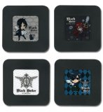 Black Butler 4 Plastic Coaster Set